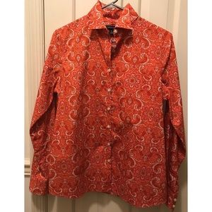 Red Paisley Supima Cotton Blouse